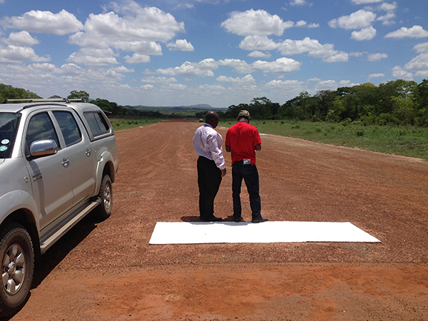 Final Inspection of our runway taking place