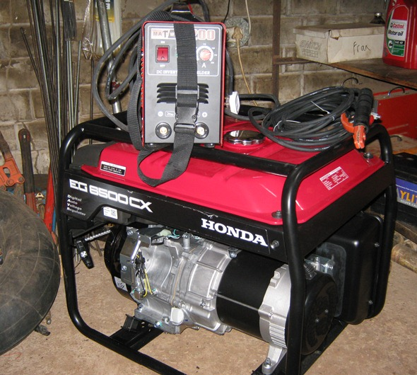 Generator and Welder purchased and ready  to weld the roof trusses