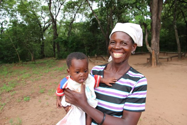 Granny and orphaned baby from Mucombeze, Mozambique