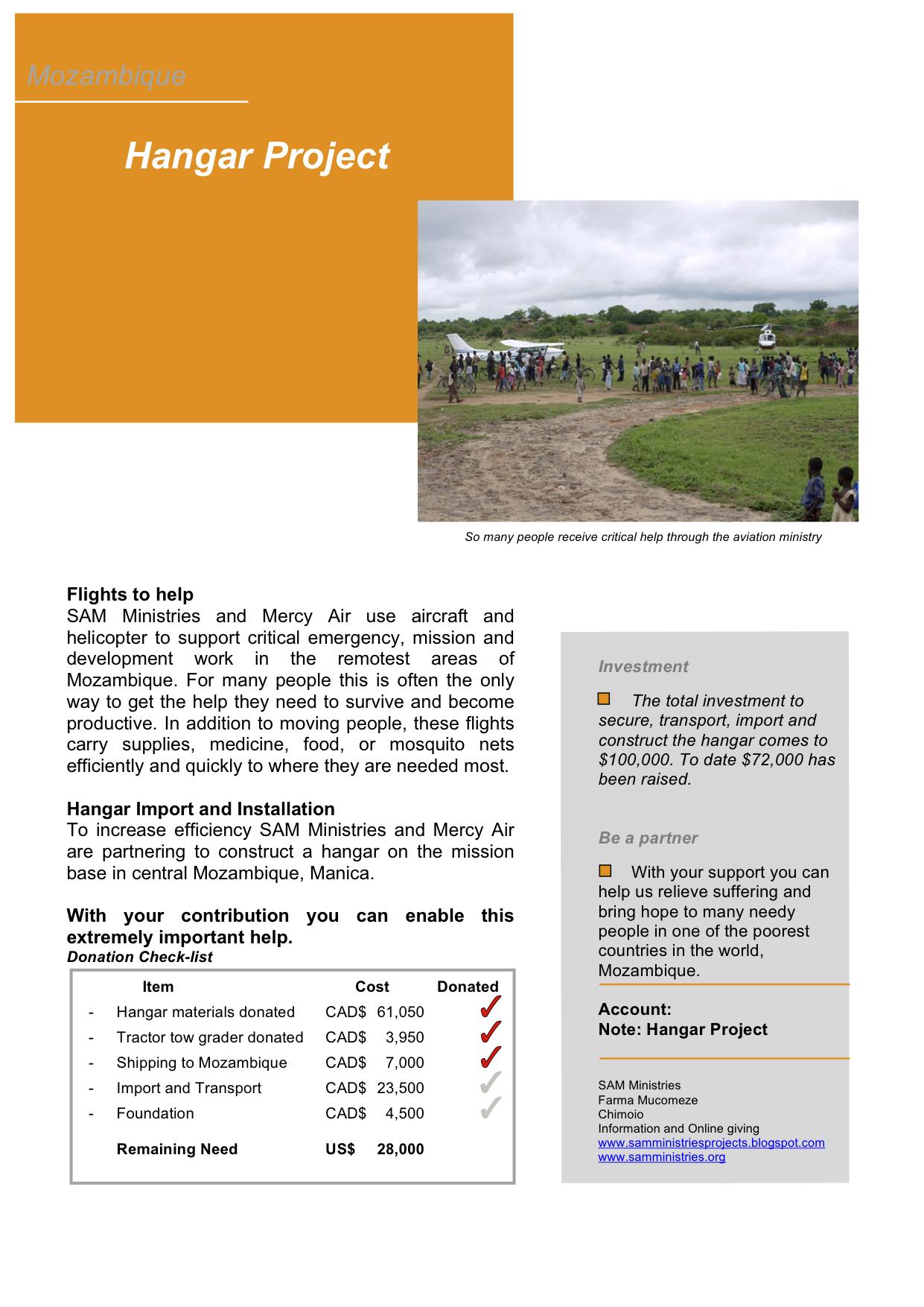 Hangar Project Executive Summary
