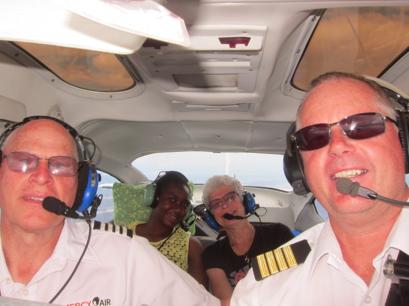 Andy flying with Ron Wayner as backup and 2 happy passengers!