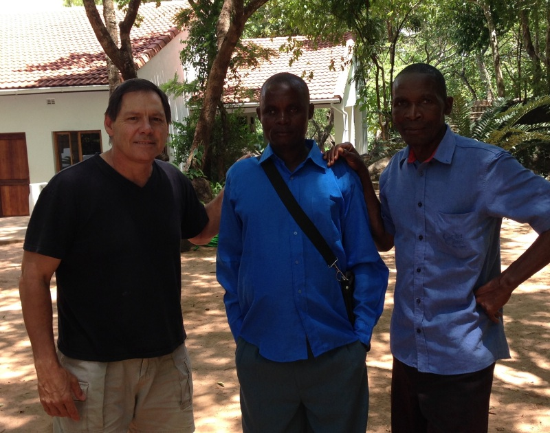 Pastor Santuni from Nyangoma with Pastor Ricardo and myself