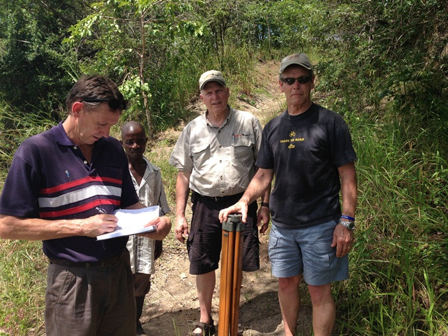 John Ron and Dave helping with the survey