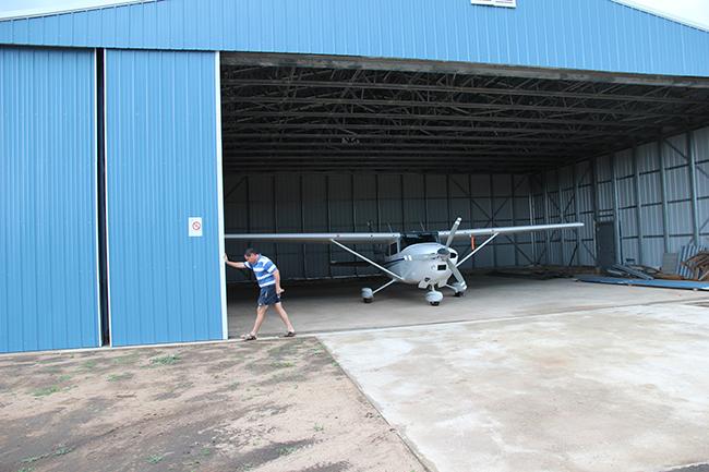 Opening the hangar