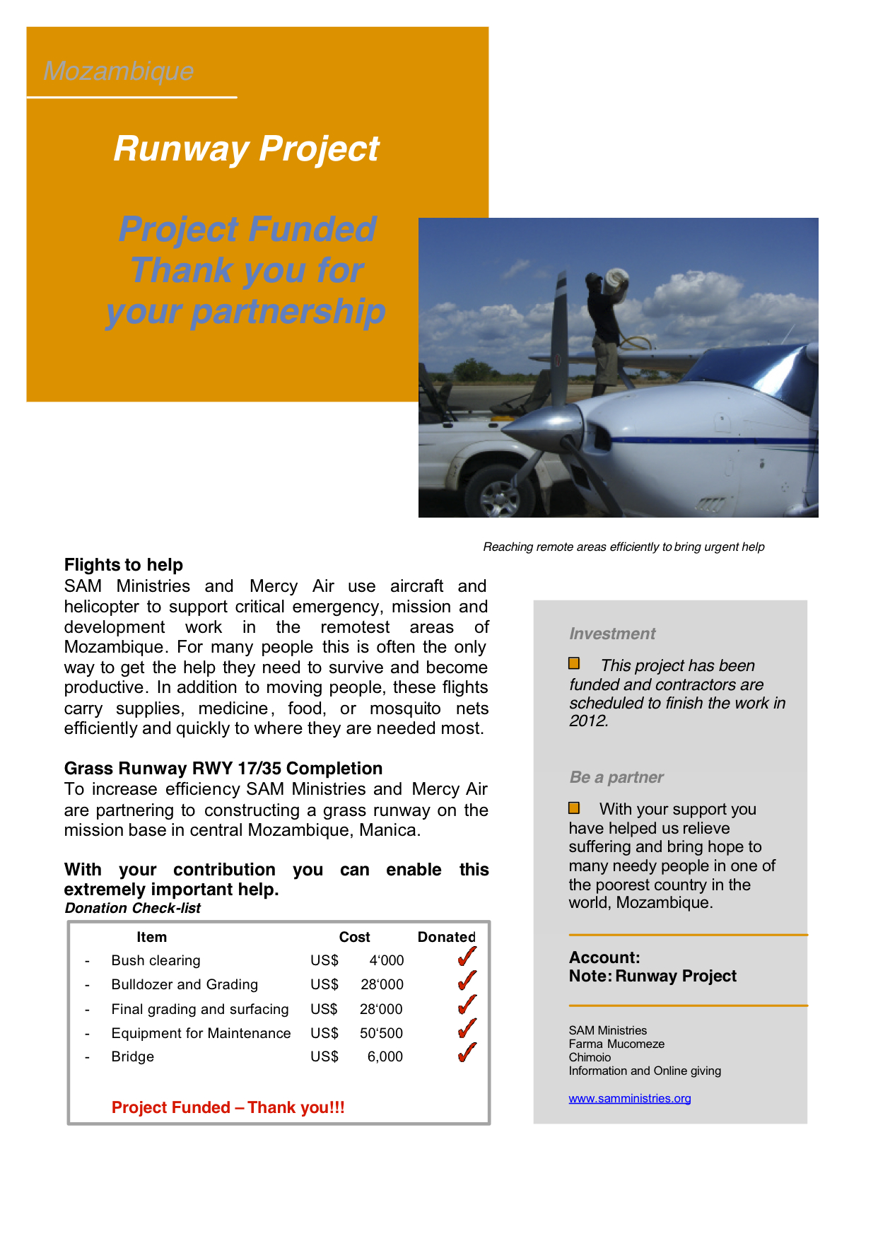 Runway Project Executive Summary