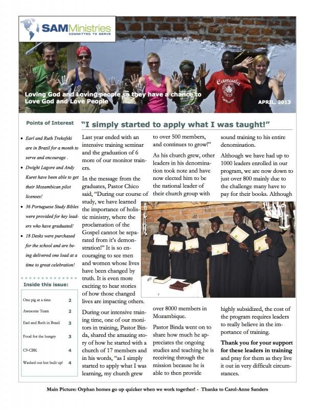 SAMM News March 2013