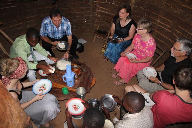 eating massa:sadza mozambique