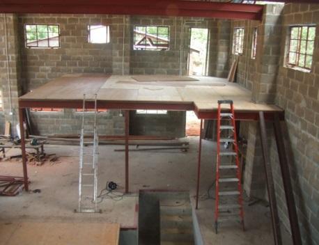 Mezzanine floor for an office being built